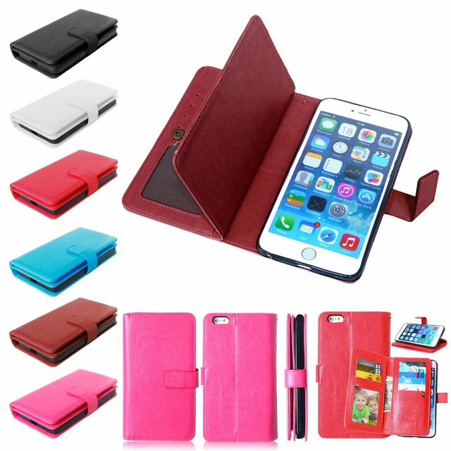 E-SKY for iphone 6 Plus case mobile phone cases for iphone 6s plus 9 card slots wallet cover for iphone6 6s plus cases flip case