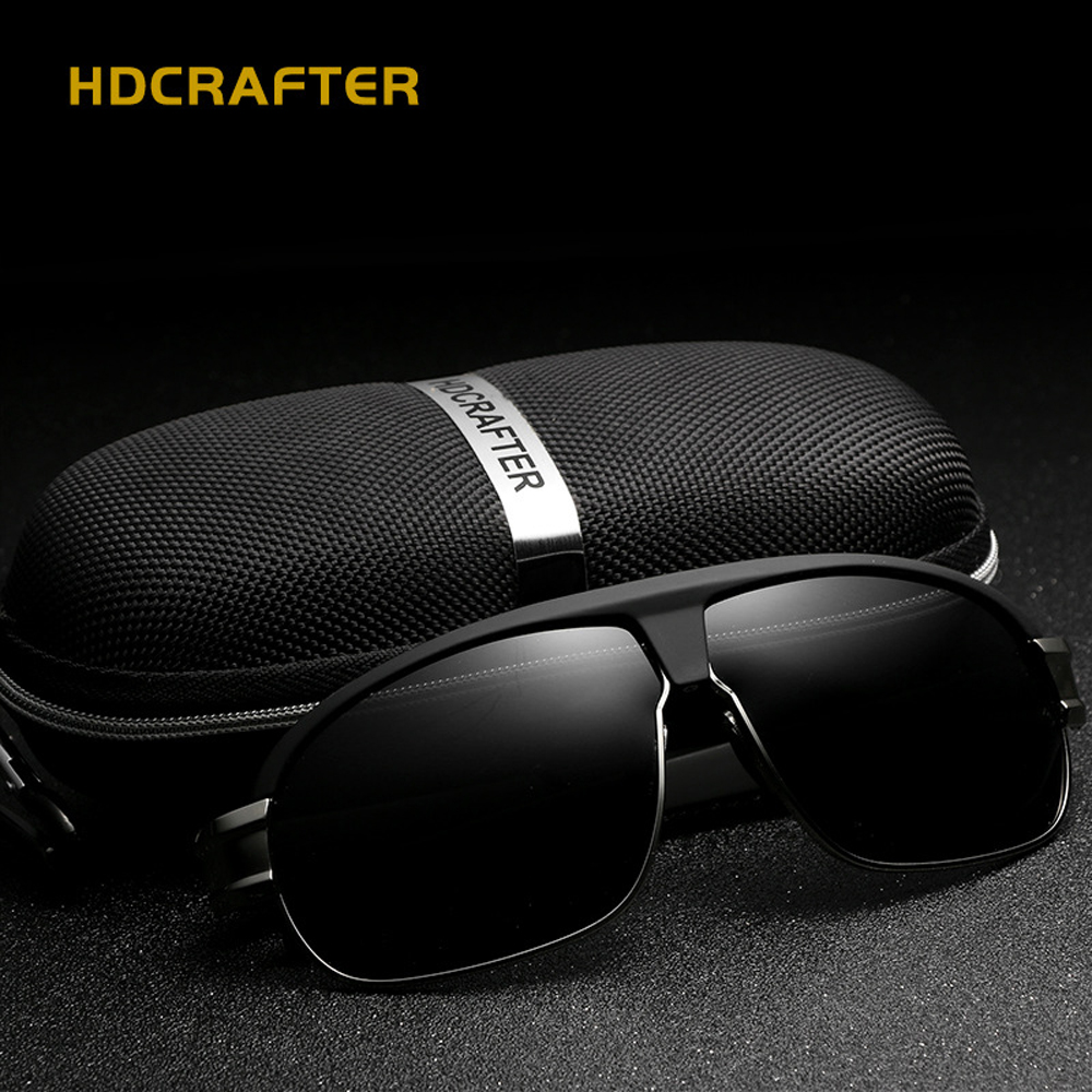 HDCRAFTER font b Fashion b font retro font b Polarized b font sunglasses men brand designer