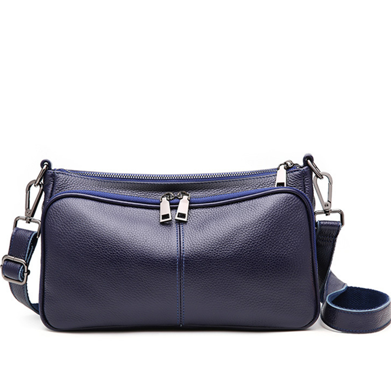 86111f1ca373 US $34.55 |Multi layer messenger bag soft cow leather shoulder bag brand  genuine leather 2018 women bag Delivery two shoulder straps-in Top-Handle  ...