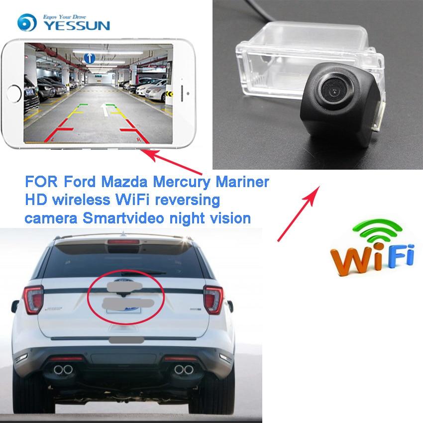 YESSUN nouveau Ariival pour Mazda hommage Mercury Mariner 2007 ~ 2012 voiture de secours caméra de stationnement plaque d'immatriculation caméra sans fil