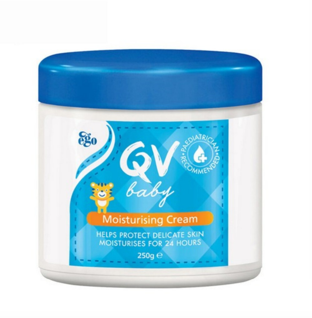 Australia QV Baby Skin Care Moisturizing Cream 250g Body Lotions for Long Lasting Relieve Dry Areas Eczema Dermatitis Psoriasis image