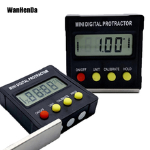 360 Degree Mini Digital Protractor Inclinometer Electronic Level Box Magnetic Base Measuring Tools Angle ruler