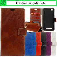 EiiMoo Book Style Case For Xiaomi Redmi 4A Case PU Wallet Flip Leather Cover For Xiaomi