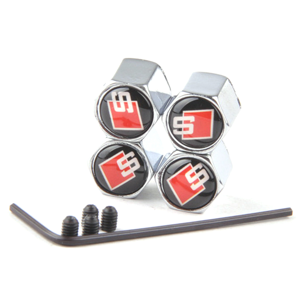square-s-4pcs-antitheft-car-wheel-tire-tyre-valve-stem-air-cap-cover-for-audi