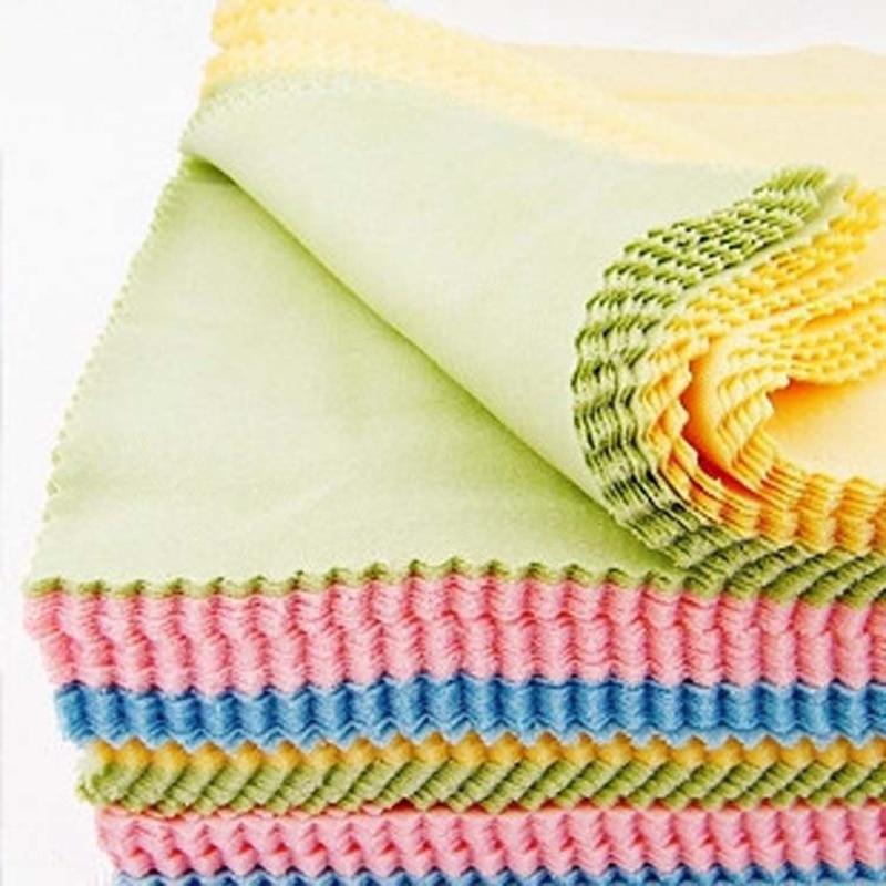Чистящая ткань для очков 100 шт./лот 13x13 см, ткань для протирания очков с микрофиброй, полезная салфетка для солнцезащитных очков 3,5, оптовая пр...