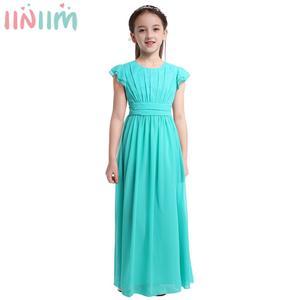Image 1 - Iiniim בנות פרח טוטו שמלת רפרוף שרוולים נסיכת שמלות שושבינה קיץ מסיבת יום הולדת שמלת בגדי ילדים