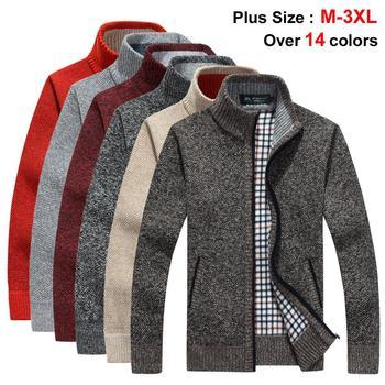 NIGRITY 2019 jesień zima mężczyzna nowy sweter kurtka grube ciepłe luźne Fit męskie topy sweter odzież wierzchnia plus size 14 kolorów opcjonalnie tanie i dobre opinie Komputery dzianiny Grubej wełny Swetry Stałe Na co dzień Pełna zipper MANDARIN COLLAR 5119S REGULAR PATTERN Akrylowe