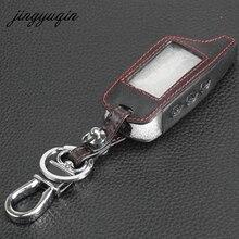 Jingyuqin брелок крышка для оригинальной Starline B9 B91 B6 B61 a91 A61 V7 C9 кожаный чехол для ключей ЖК-дисплей автомобиль дистанционного 2 способ сигнализации Новый