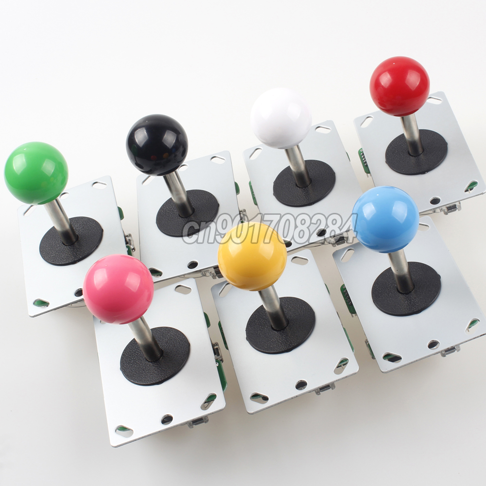 1x Arcade Classic Competition 5 Pin Stick 5P Rocker 4 - 8 Ways Jostick for PC Games Diy Kit Parts SNK Mame Jamma Machine Gaming