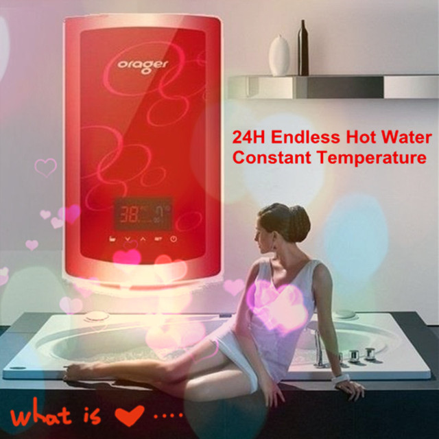 Tankless Electric Instantaneous Hot Bathroom Shower Water Heater ...