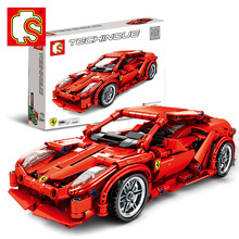Sembo Diamon Nano Blocks 458 Sports Cars in Mechanical password Technic Voiture  Building Brick Educational Toy Gift