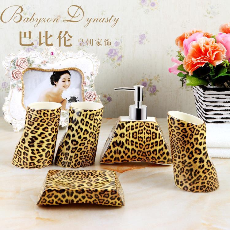 popular leopard bathroom setbuy cheap leopard bathroom set lots,