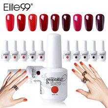 d92d236d Elite99 15 ml wina czerwony lakier żelowy kolorowy długotrwałe Gel Nail  polski Soak Off żel UV