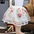 Summer 3Color 2017 Girls Skirts Butterfly Peony Ball Gown For Kids Child Pettiskirt For Teenage Girls Ballet Clothing 3-12Age
