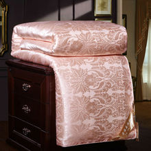 Winter Thick Natural Pure 100%Mulberry Silk Comforters Hand Work Silk Quilts Comfortable Summer Silk Blankets Soft Satin Cover