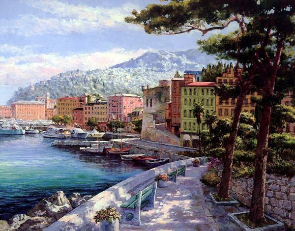 Envío Gratis Mediterráneo ciudad paisaje barco paisaje marino ...