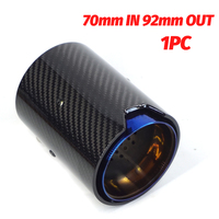 70mm IN Exhaust Pipe Real Carbon Fiber Glossy Grilled Blue Style For BMW M2 F87 M3 F80 M4 F82 F83 M5 F10 M6 F12 F13 X5M X6M