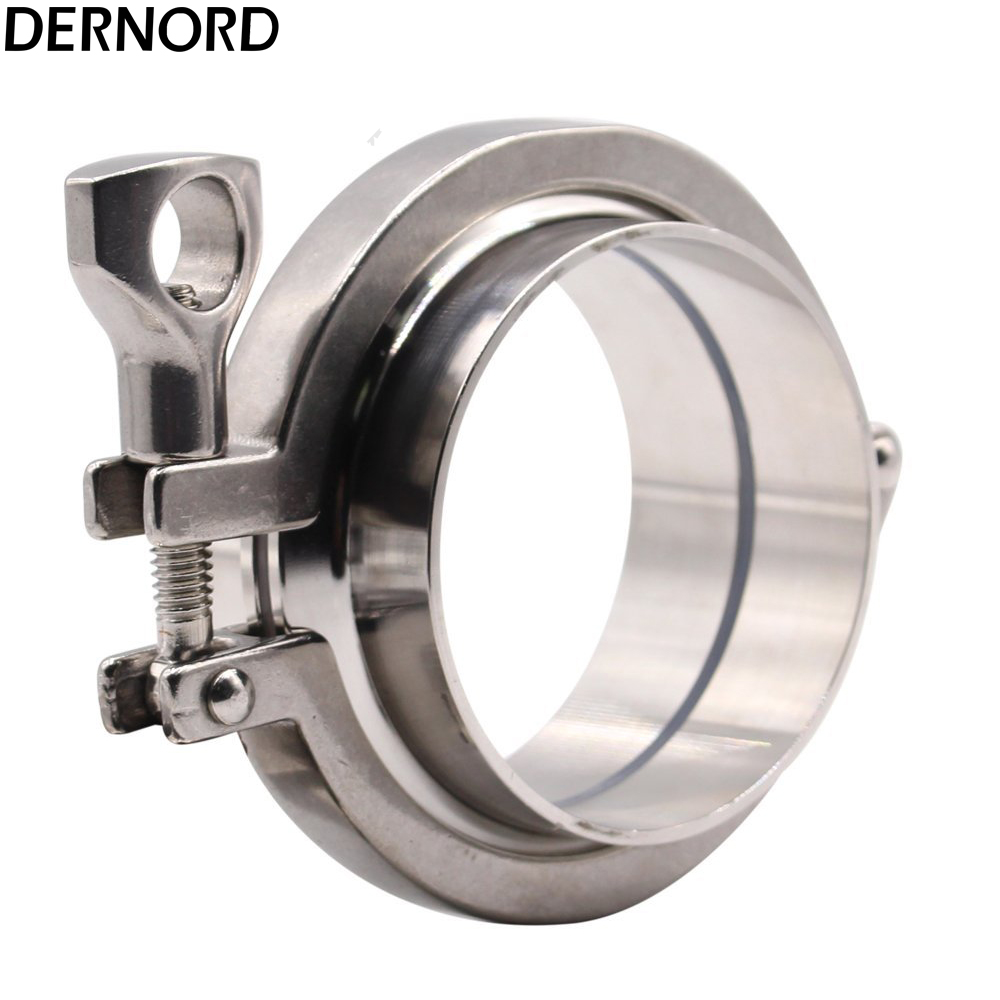 DERNORD 2Pcs Sanitary Weld Ferrule + 1Pcs 3 Tri-Clamp V-iton Gasket, stainless Steel 304