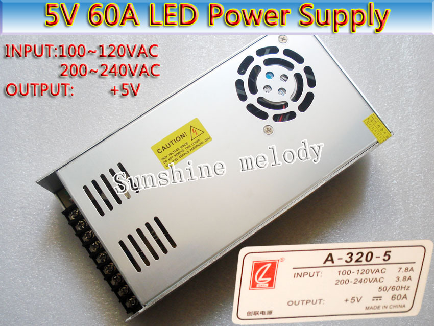 5V 60A 300W LED display Dedicated Power supply,P3 P4 P5 P6 P10 LED display power supply