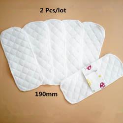 2 шт./лот тонкий Многоразовые Менструальный ткань гигиенические Мягкие подушечки салфетки стирать Водонепроницаемый прокладок Для женщин