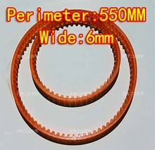 MB550  Wide:6mm  Sewing Machine PU Single Side Teeth Transmission Drive Belts Small Motor V Belts