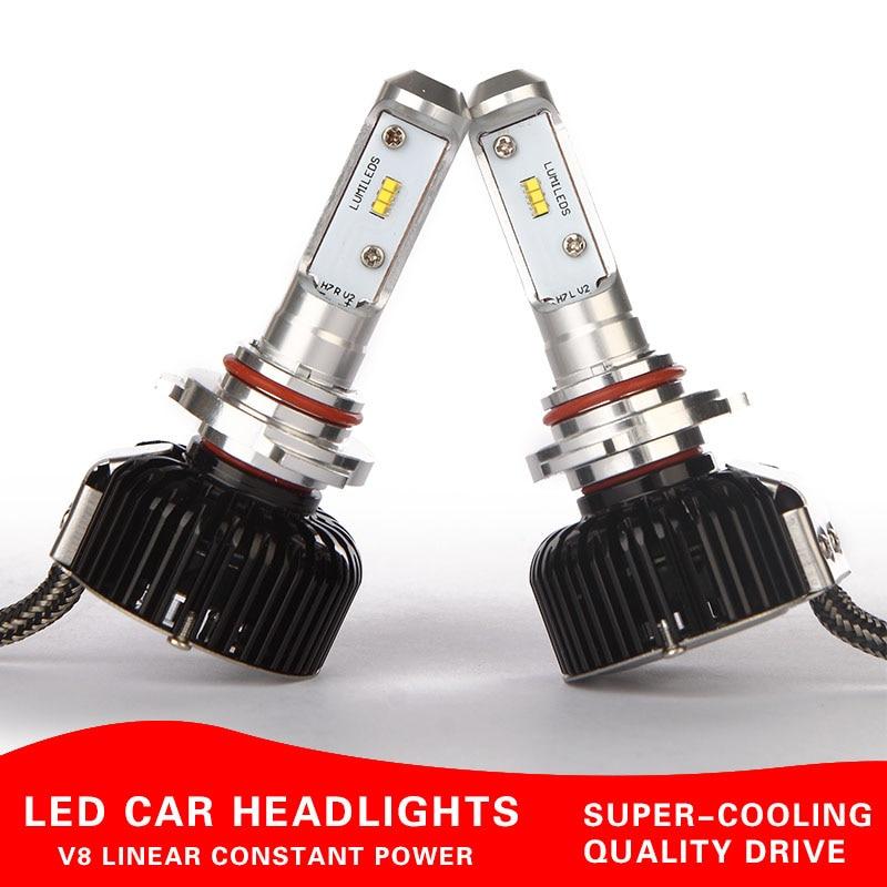 ФОТО brightness Car Headlamp led kit H1 h7 h3 h11 H8 9006 9005 9012 Headlights kits led H4 HI LO white 4800lm 60W Bulb Kit 5700k