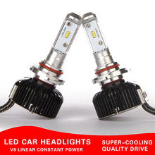 brightness Car Headlamp led kit H1 h7 h3 h11 H8 9006 9005 9012 Headlights kits led H4 HI LO white 4800lm 60W Bulb Kit 5700k