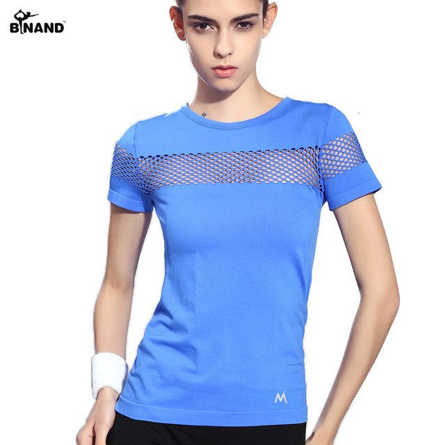 Summer Style Fitness Women Sports T shirt Running Short Sleeve Quick Dry Breathable Gym Sexy Hollow Nylon Sportswear Tops-in Yoga Shirts from Sports & Entertainment on Aliexpress.com   Alibaba Group