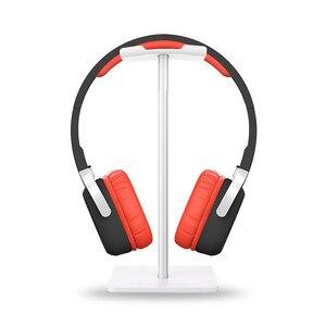 Image 2 - Alloy Headphone Stand Stable Headset Bracket Display Shelf Computer Gaming Holder Rack Non slip Earphone Vertical Bracket Hanger