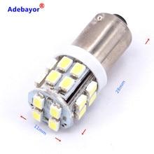 Ampoules de lumière solaire 12 volts, accessoires de voiture, BA9S 20 SMD 1206 BA9 20 LED T4W 3886X, 40 pièces