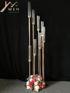 Flower-Stand-Holder Table Centerpieces Acrylic Home-Decor Wedding Metal 10PCS for 8-Heads