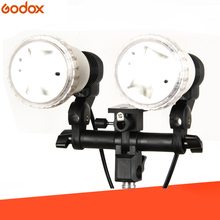 Continuous light Studio Flash accessories LH 02 AC Slave Light Double E27 Socket with Umbrella Holder Softbox Light Stand Mount