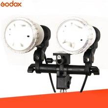 Luz contínua estúdio flash acessórios LH 02 ac escravo luz dupla e27 soquete com suporte de guarda chuva softbox luz suporte montagem