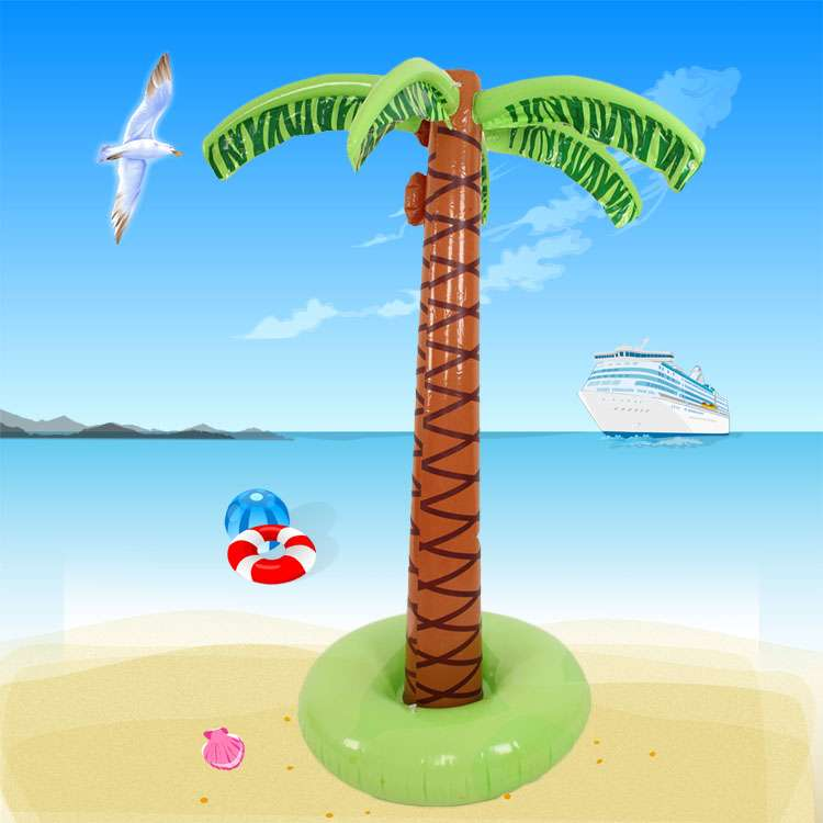 Large Indoor And Outdoor Hawaiian Simulation Coconut Tree Inflatable Fake  Green Plant Hotel Living Room Decorations