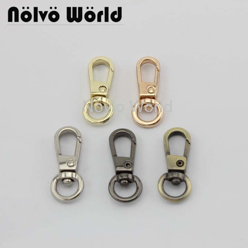 Wholesale 500pcs, 5 Colors Accept Mix Color, 31*8.3mm 3/8 Inch High Quality Diy Trigger Snap Hook Handbag Swivel Clasp Hooks