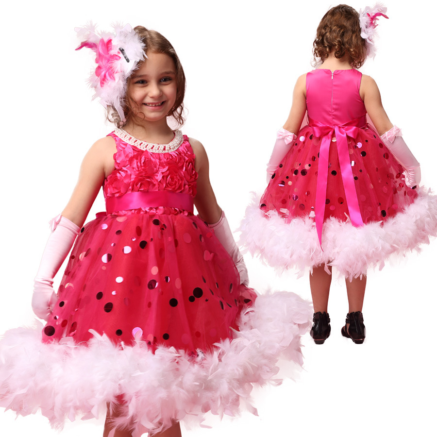 flower girl dress party for girls kids Wedding 2017 Brand Summer Dress Princess Costume Rose elegant girls dresses summer 2017 new girl dress baby princess dresses flower girls dresses for party and wedding kids children clothing 4 6 8 10 year