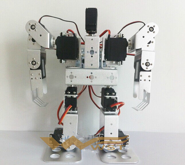 11 degrees of freedom bipedal humanoid robot frame kit complete set of equipment with 11 servos new 17 degrees of freedom humanoid biped robot teaching and research biped robot platform model no electronic control system