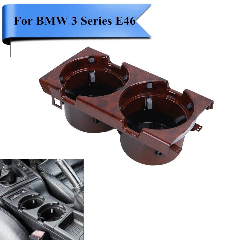 Grano de madera Auto Interior Del Coche Sostenedor de la Bebida de Agua Para BMW