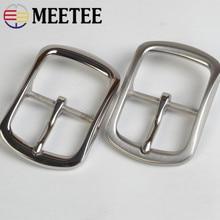 Meetee 40mm Stainless Steel Belt Buckle Metal pin buckles For Belt 38-39mm DIY Leather Craft Jeans Accessories Hardware BD253 стоимость