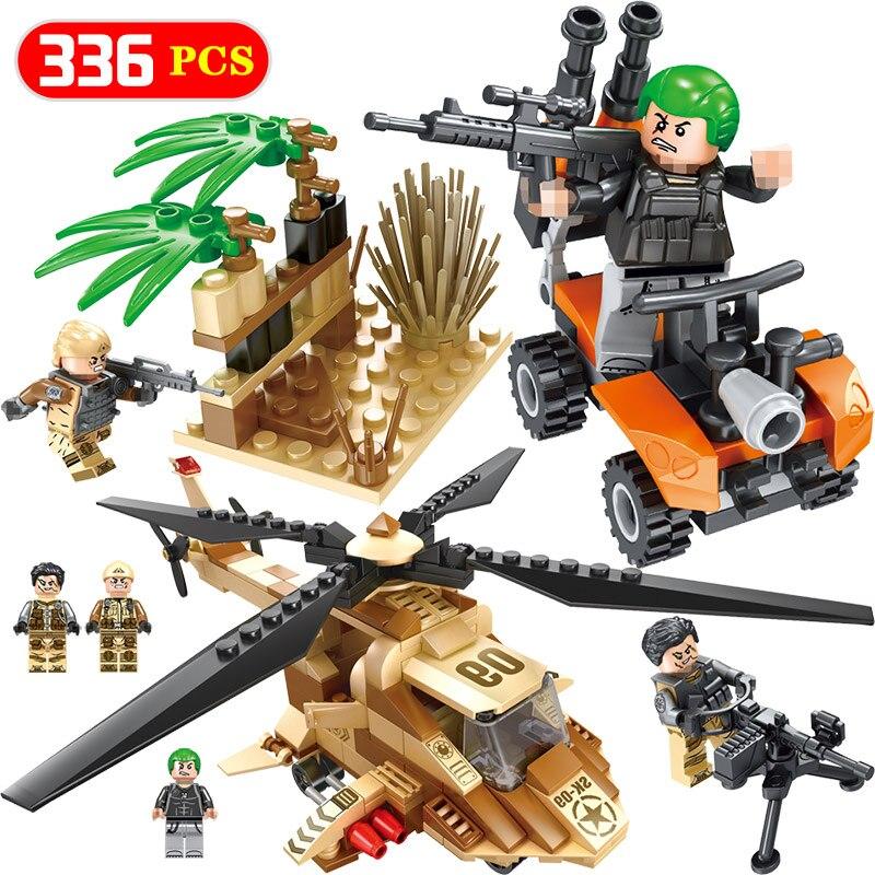 6in1 Military Field Battle Special Force Group Building Blocks Bricks Sets Toys Bauklötze