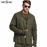 새로운 남성 군사 캐주얼 재킷 코튼 데님 파카 남성 슬림핏 재킷 육군 녹색