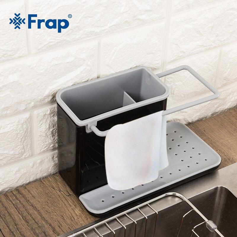 Frap Caddy Lagerung Racks Organizer Küche Waschbecken Ordentlich Utensilien Schwamm Halter Abtropffläche Integrierte Abtropffläche Küche Werkzeug Y36021