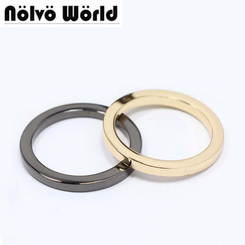 5.0mm line inside for 32mm 1.2 inch bags accessory metal die-casting zinc alloy tabular o ring welded rings