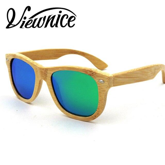 eb23d4afc039d Viewnice Luxo Homem De Bambu Óculos De Sol 2017 UV400 Polarizada Espelho  Polaroid Óculos Mulheres Marca