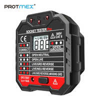PROTMEX PT106 RCD / GFCI Outlet Electric Socket Tester  Leakage Test with LCD voltage testing EU Plug