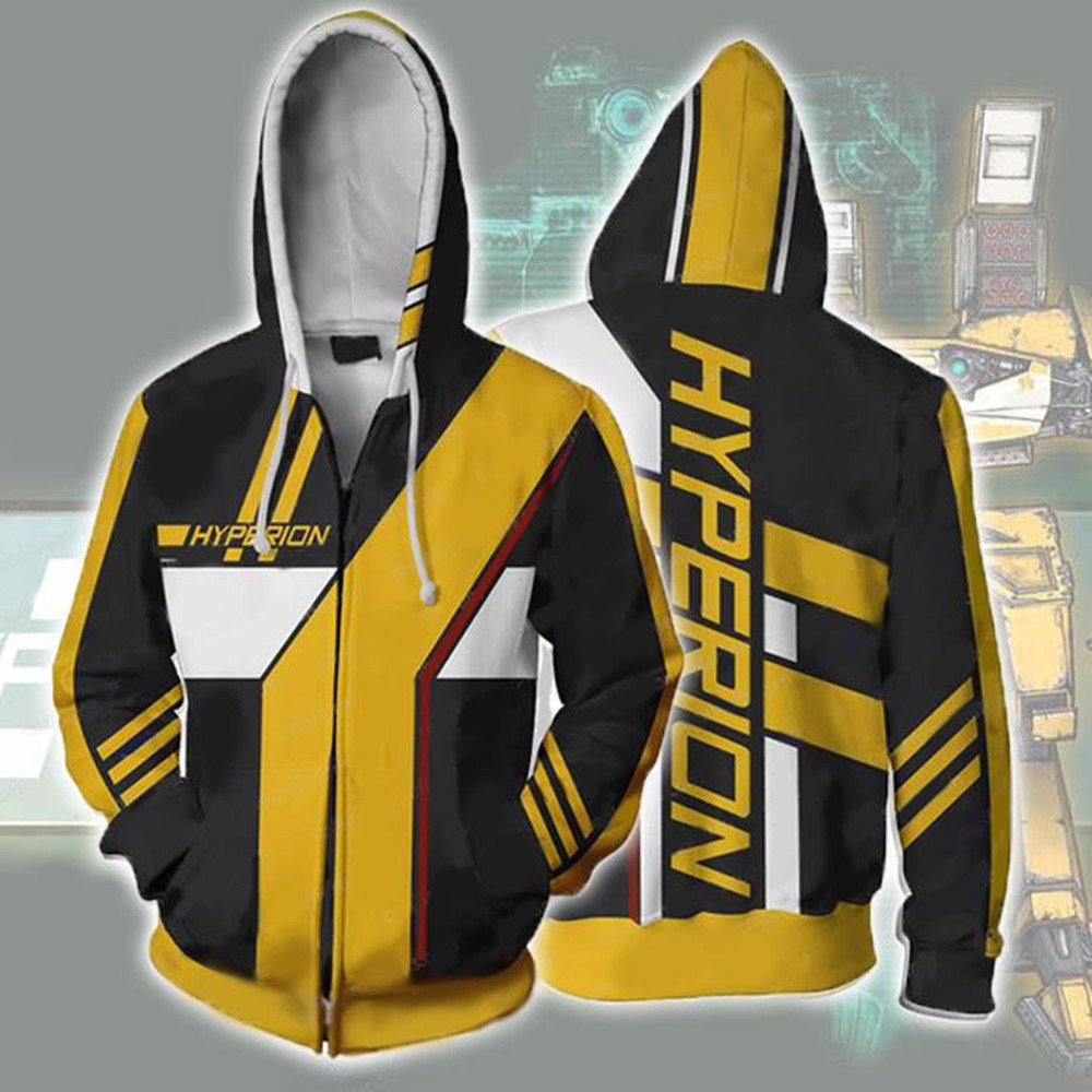 <font><b>Borderlands</b></font> 3 Hyperion <font><b>Costumes</b></font> <font><b>Borderlands</b></font> Zer Hoodies Sweatshirts Cosplay 3D printed fashion men women hooded jacket image
