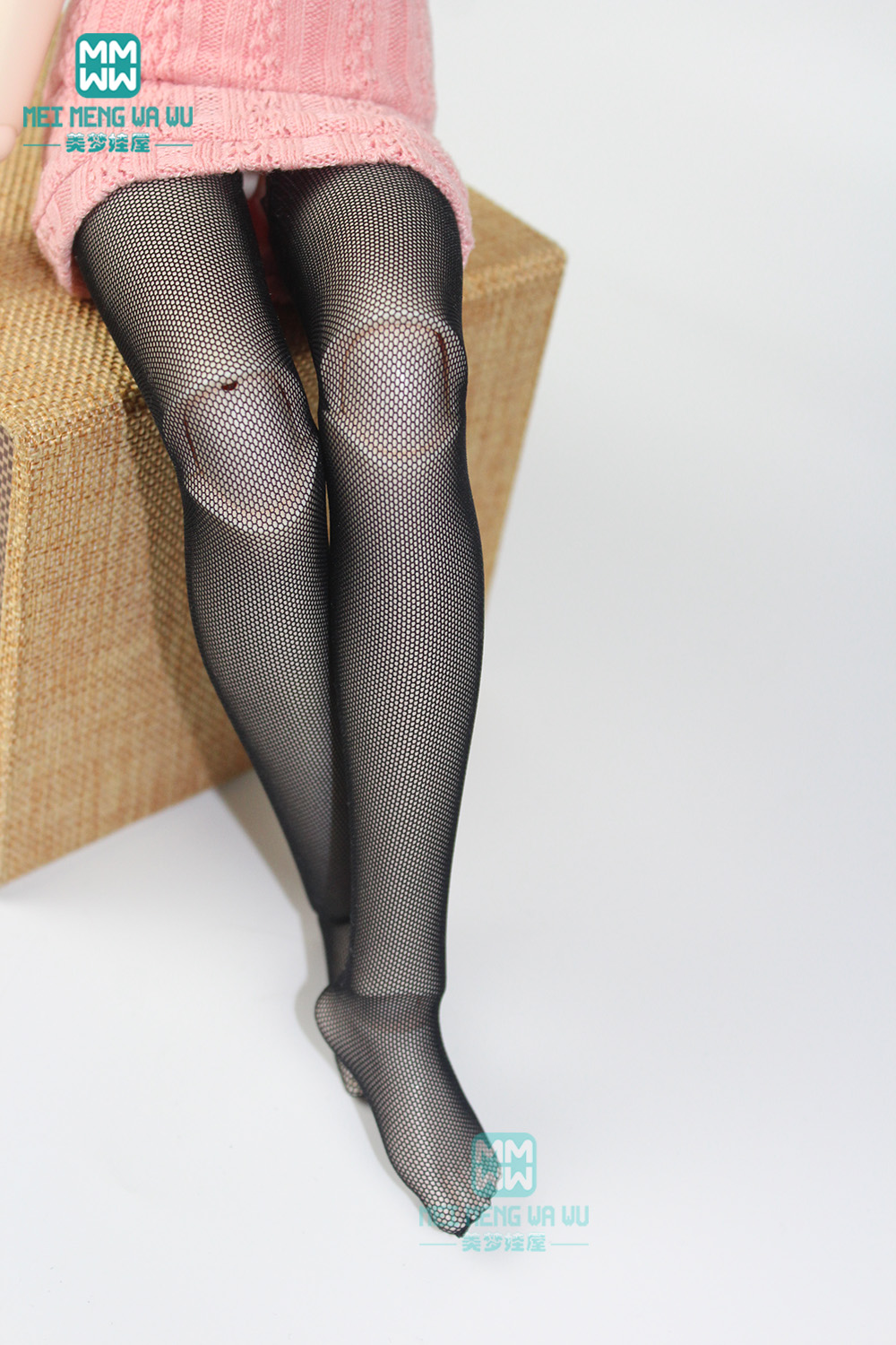 BJD Accessories For 1/3 1/4 1/6 BJD SD DD Doll Fashion Lace Stockings, Striped Socks, Mesh Socks