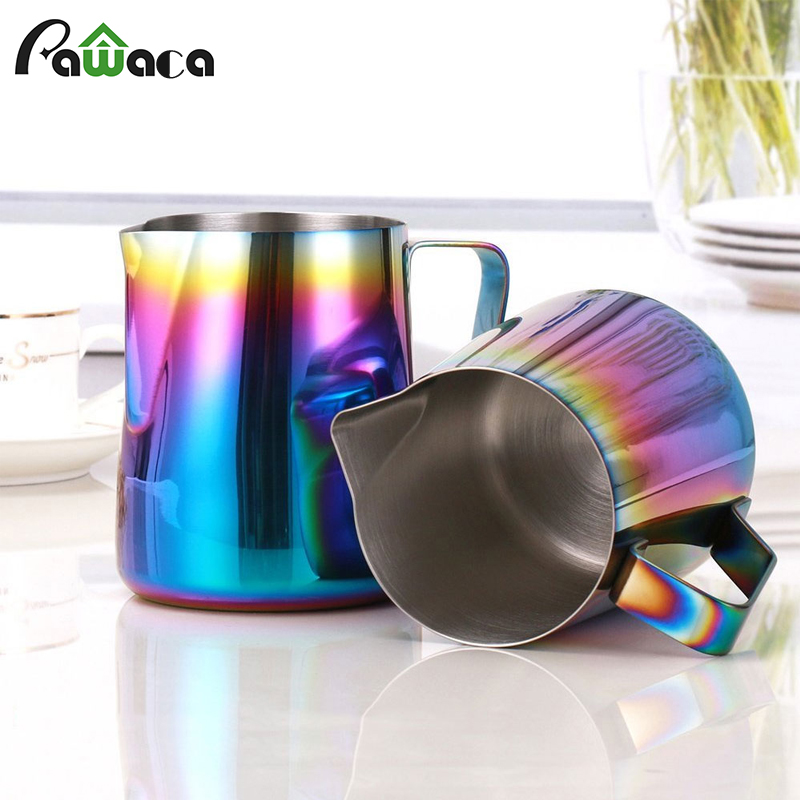 Milk Frothing Pitcher Stainless Steel Coffee Milk Frothing Pitcher Creamer Frothing Cup for Espresso Cappuccino Latte Maker ArtMilk Frothing Pitcher Stainless Steel Coffee Milk Frothing Pitcher Creamer Frothing Cup for Espresso Cappuccino Latte Maker Art