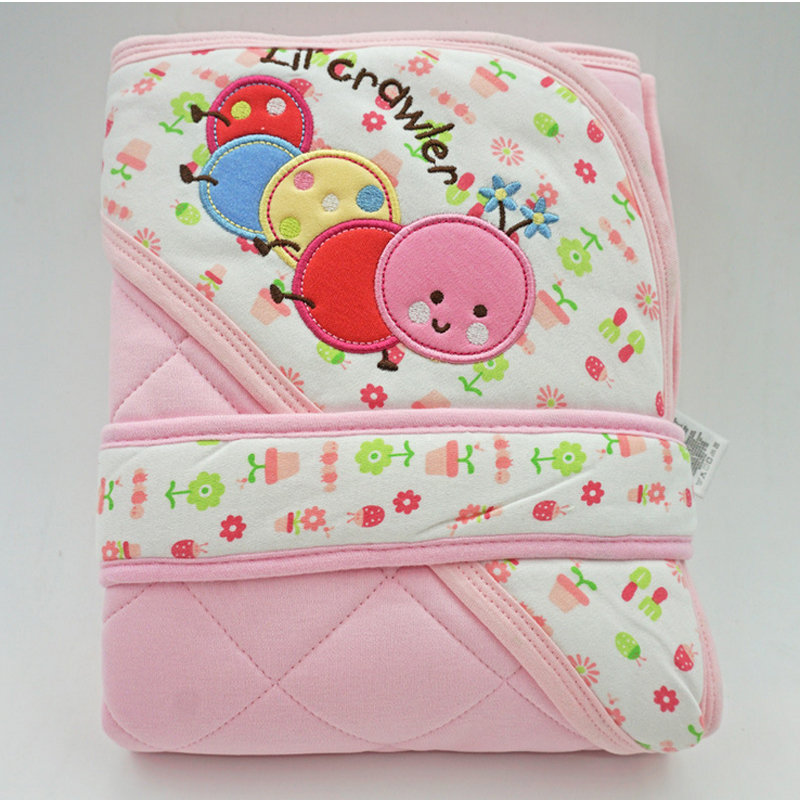 Y133-1 Newborn baby 85*85cm spring and autumn section thicker baby holding sleeping bag as a coat baby girl and boy blanket