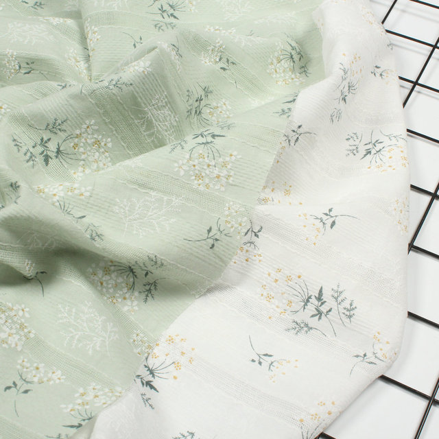 DIY Japanese And Korean Style Embroidery, Printed Jacquard Fabric, Floral, Cotton